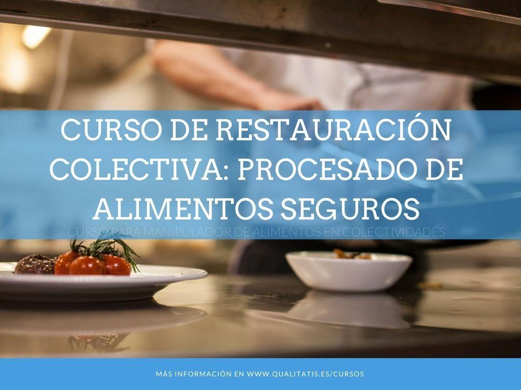 Curso de Restauración Colectiva: Procesado de Alimentos Seguros.