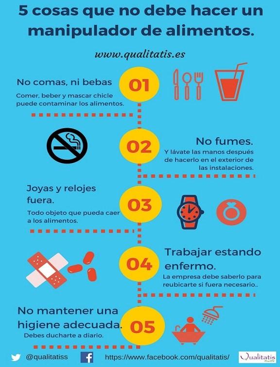5 conductes a evitar pels manipuladors d'aliments