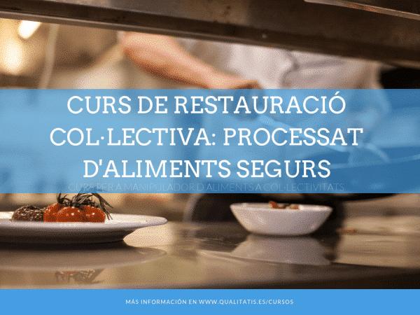 Curs de Restauració Col·lectiva. Processat d'aliments segurs