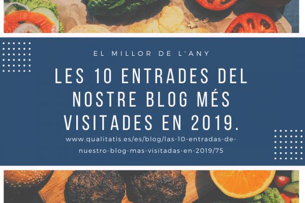 Les 10 entrades del nostre blog més visitades en 2019.